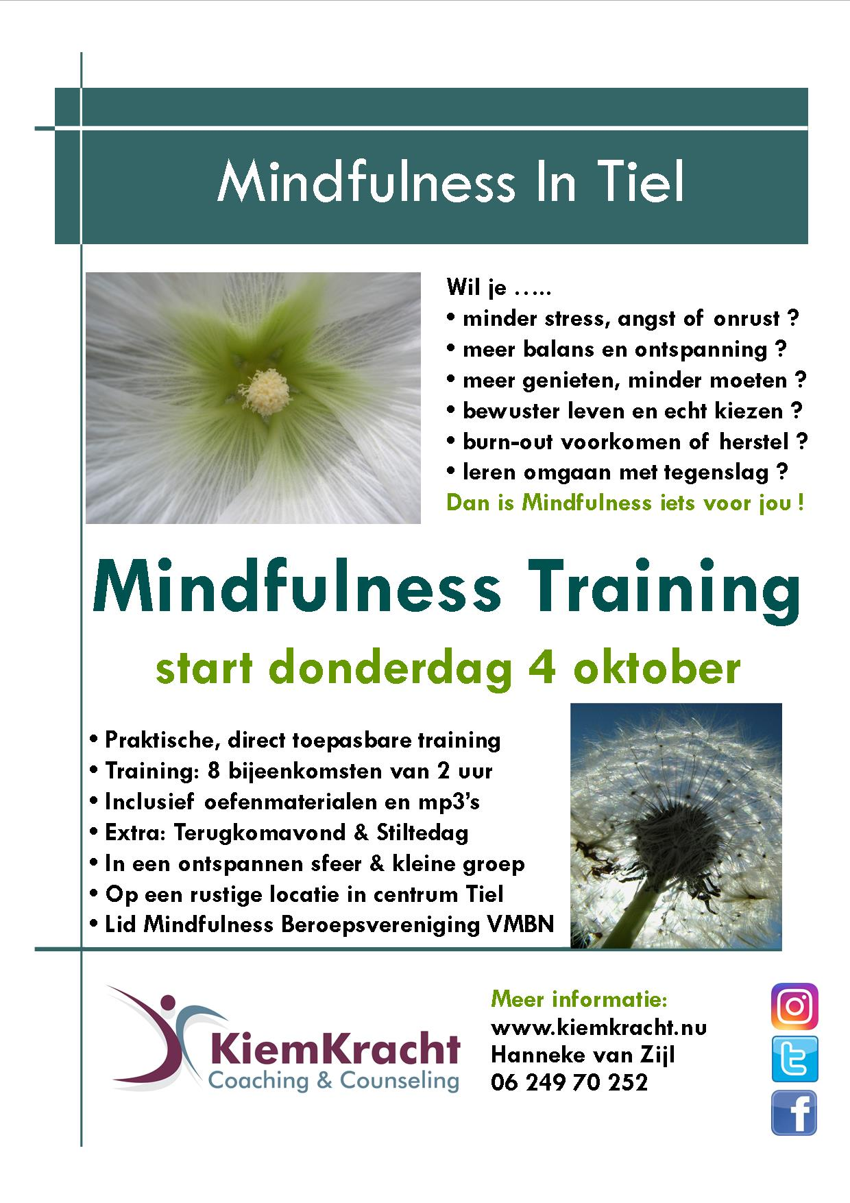 Mindfulness Training 4-10-2018